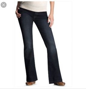 GAP Maternity Dark Long & Lean Bootcut Jeans 10 L